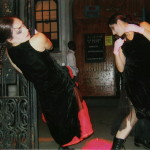 Site Specific Performance,! Bianca Falco and Despina Stamos. NYC '90s