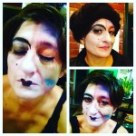 Makeup for the Zero Hour Prformance at The Slipper Room, NYC January 2016